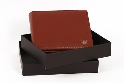 DHide Designs Men Red Genuine Leather Wallet 9 Card Slots