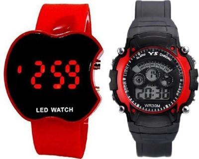 KINGLAND ORIGINAL RED COLOR SET OF 2 DIGITAL KIDS CHOICE FAVORITE SPORT 7 LIGHT Digital Watch  - For Boys & Girls