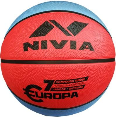 NIVIA Europa Top Grip All Surface Basketball Size 7 Basketball   Size: 7 Pack of 1, Red, Blue NIVIA Basketballs