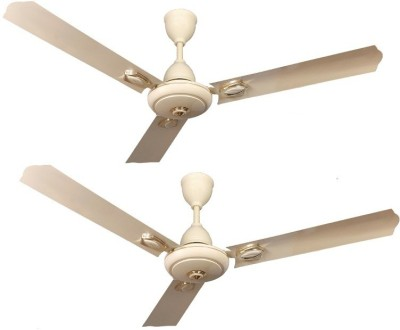 ACTIVA COROLLA ANTI DUST PACK OF 2 1200 mm 3 Blade Ceiling Fan(IVORY, Pack of 2)