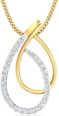 P.N.Gadgil Jewellers Entwined 22kt Cubic Zirconia Yellow Gold Pendant