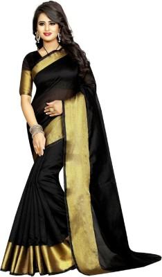 SareeOpera Woven Fashion Polycotton Saree(Black)