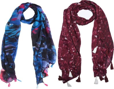 Ziva Fashion Printed Cotton Poly Women's Scarf