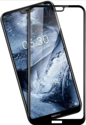 Aios Tempered Glass Guard for Nokia X6 2018 / Nokia 6.1+ / 6.1 Plus H Curved Screen , Screen Protector, Full Glue Edge to Edge Fit 9H Hardness Bubble Free Anti-Scratch Crystal Clarity(Pack of 1)