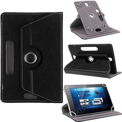 Cutesy Flip Cover for Spice Mi-730(Black, Cases with Holder)
