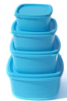 TAPASVI Air Tight Container  - 500 ml, 1350 ml, 250 ml, 750 ml Plastic Fridge Container, Spice Container, Tea Coffee & Sugar Container, Grocery Container, Utility Box(Pack of 4, Blue)