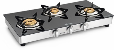 Sunflame Stainless Steel Manual Gas Stove(3 Burners)