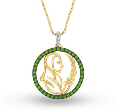 P.N.Gadgil Jewellers Zodiac: Virgo 22kt Cubic Zirconia Yellow Gold Pendant