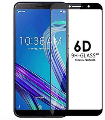 NaturalBuy Edge To Edge Tempered Glass for Asus Zenfone Max Pro M1 6GB RAM (Premium 6D 9H Full Glue)(Pack of 1)