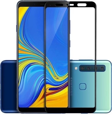 b.bright Edge To Edge Tempered Glass for Samsung Galaxy A9 2018 5D Tempered Glass ( Pack of 1 )(Pack of 1)