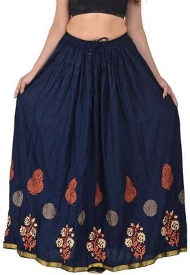 Kastoori Collection Printed Women Regular Dark Blue Skirt