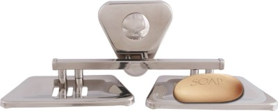 Mclion Double Soap Box(Silver, Mirror Finish)