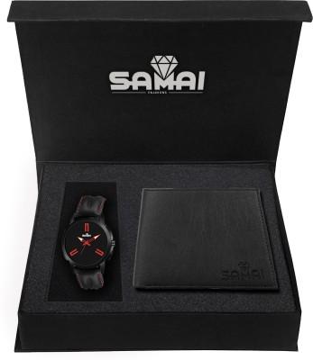 Samai Fashions Analog Watch, Wallet Combo(Black)
