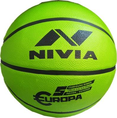 NIVIA Europa Top Grip All Surface Basketball Size 5, MULTICOLOR Basketball   Size: 5 Pack of 1, Green NIVIA Basketballs