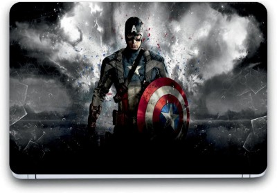 Gallery 83 ® captain america sheild Exclusive High Quality Laptop Decal, laptop skin sticker 15.6 inch (15 x 10) Inch G83_skin_3651new Vinyl Laptop Decal 15.6