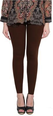 Aditi Fashion Ankle Length  Legging(Brown, Solid)