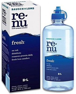 ReNu Fresh Lens Comfort Removes Protein Daily Disinfects 355ml Len Water(355 ml)