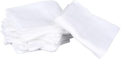 PEUBUD Reusable 100% Cotton Muslin Square Plain White Nappies/Napkin  Medium 60X60Cm   Pack of 4