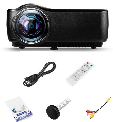 ViviBright PRIVATE HOME CINEMA ENTERTAINER GP70 BIG PICTURE 1080P SUPPORT Portable Projector(Black)