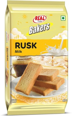 Real Bakers MILK RUSK Milk flavored Milk Rusk(200 g)