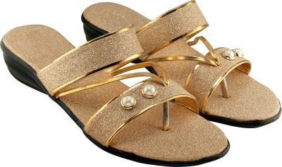 Clover Women Gold Wedges