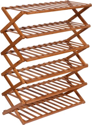 Haneez Solid Wood Shoe Rack(6 Shelves)
