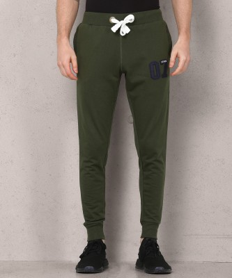 Metronaut Applique Men Green Track Pants