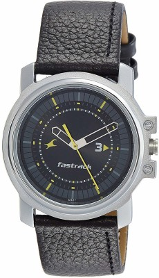 Fastrack NG3039SL02C Economy Analog Black Dial Men's Watch (NG3039SL02C)