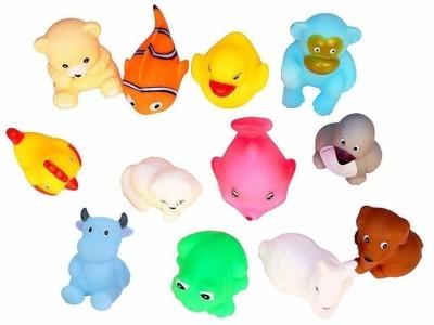 Fedele 12 Pc chu Chu Bath Toy(Multicolor)