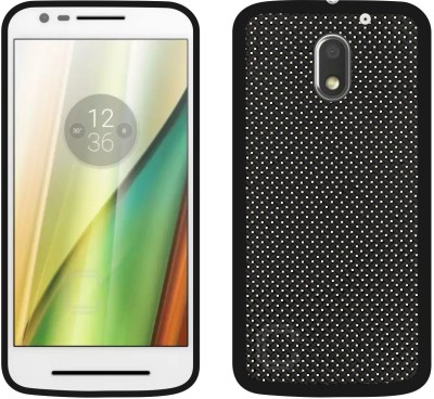 Case Creation Back Cover for Motorola Moto E3 Power(Black, Grip Case, Silicon)