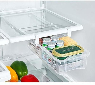 Style Home Pull Out Refrigerator Mate Drawers Bin Perfect for Fridge Organizer Snap Plastic Kitchen Rack(Multicolor) at flipkart