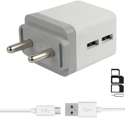 ShopsGoods Wall Charger Accessory Combo for LG Optimus L5 Dual E615, LG G Pro 2, LG Optimus L4 II Dual E445, LG Optimus L3 II E425, LG G4 Stylus 3G, LG Optimus G Pro, LG L60i, LG F60, LG L Bello, LG L Fino, LG G Pro Lite Dual, LG Max, LG Optimus Hub Dual Port Charger Original Adapter Like Wall Charg