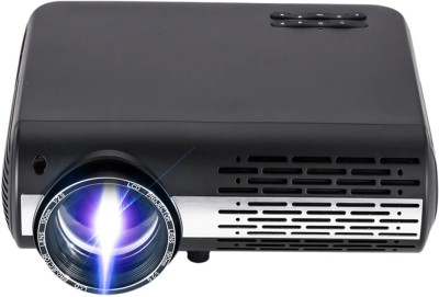 PLAY 1080p LED Projector, HDMI USB PC Video Game Home Theater Projector Beamer Portable Projector(Black)