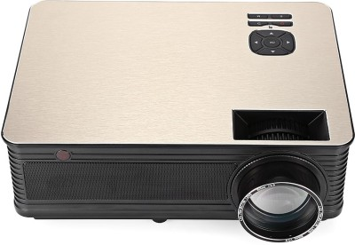 PLAY LED Projector Home Beamer NPP0AB FULL HD with 3d Glasses Portable Projector(Beige)
