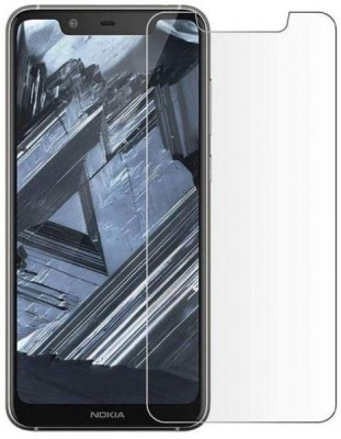 SAMARA Tempered Glass Guard for NOKIA 5.1 PLUS (5.86 INCHES)(Pack of 1)