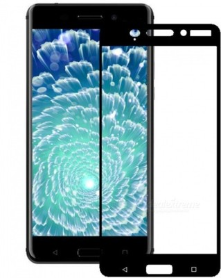 VARAJ Edge To Edge Tempered Glass for Full Screen Color Temperd Glass Screen Protector For Nokia 6 - Black(Pack of 1)