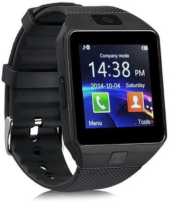 IKJ SMART WATCH DZ09 Black Smartwatch(Black Strap Freesize) at flipkart