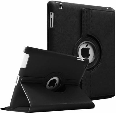 Beebox Flip Cover for Apple iPad 2 Ipad 3 Ipad 4 Degree Rotating Leather Case Cover(Black)
