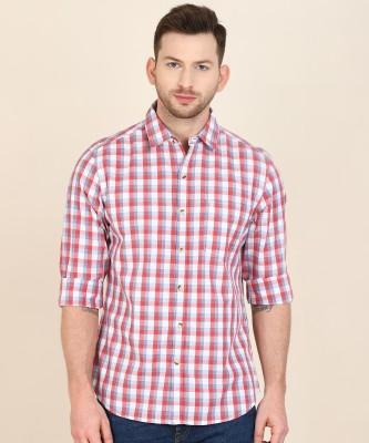 John Players Men Checkered Casual Multicolor Shirt