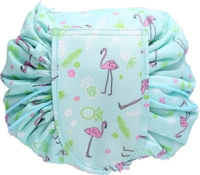 ShoppoStreet Women's Portable Travel Cosmetic Storage Makeup Organizer Toiletry Bag with Drawstrings Travel Toiletry Kit Green