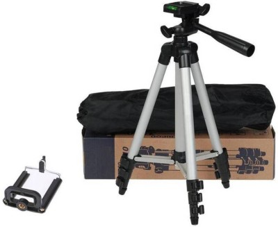 Alafi Tripod 3110 3-Way Head Built in Level for phone and camera Foldable Tripod Stand for Mobile Camera Tripod, Tripod Kit(Silver, Supports Up to 1500 g) 1