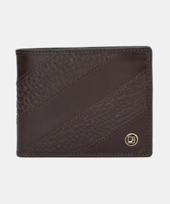 Da Milano Men Brown Genuine Leather Wallet(6 Card Slots)