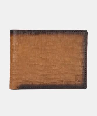 Da Milano Men Tan Genuine Leather Wallet(10 Card Slots)