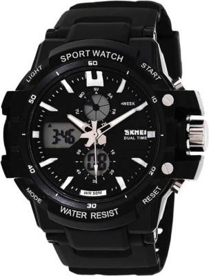 Skmei 0990BLK Rugged Analog-Digital Watch - For Men, Boys