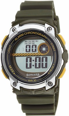 SONATA NH77005PP02J Digital Watch   For Men SONATA Wrist Watches