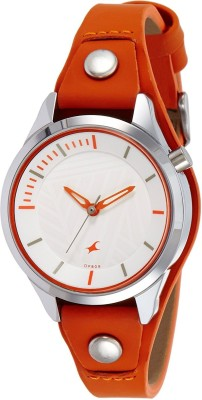 Fastrack 6156SL02 Analog White Dial Women's Watch (6156SL02)