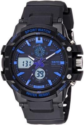 Skmei 0990BLU Rugged Analog-Digital Watch - For Men, Boys