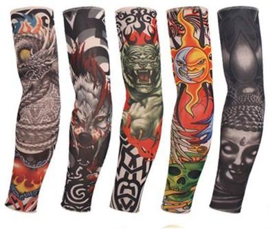 Navkar Crafts Tattoo-Sleeves -Pack-of-5 Nylon Arm Warmer(Multicolor)