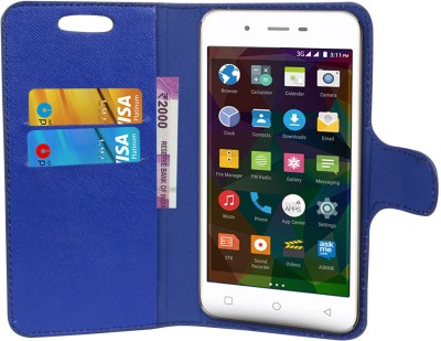 CHAMBU Flip Cover for Panasonic Eluga Pure(Blue, Shock Proof)