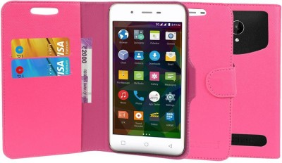 CHAMBU Flip Cover for XOLO Omega 5.5(Pink, Shock Proof)